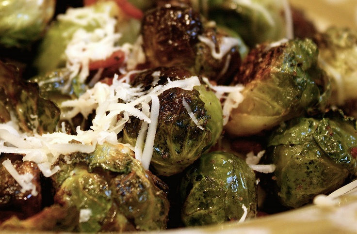 ... nest: Roasted Brussel Sprouts with Turkey Bacon and Asiago Cheese