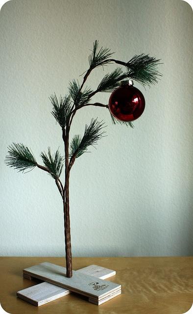 our charlie brown christmas tree 2011