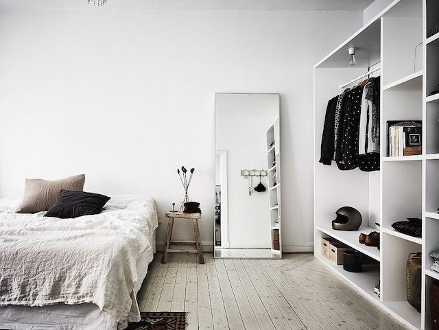A Bedroom In A Serene Swedish Home With Autumn Accents Anders Bergstedt For Entrance