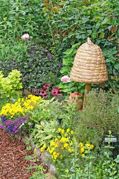 bee skep - bees want to hive and they help the garden so much