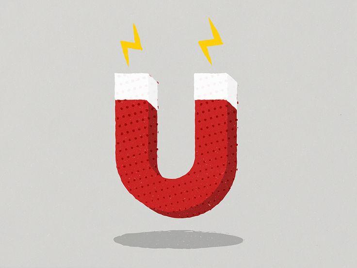 A1—Z26 / U21. #graphic #design #typography #illustration #magnet