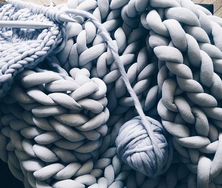 Tendência do tricô gigante na decoração de inverno! ♥