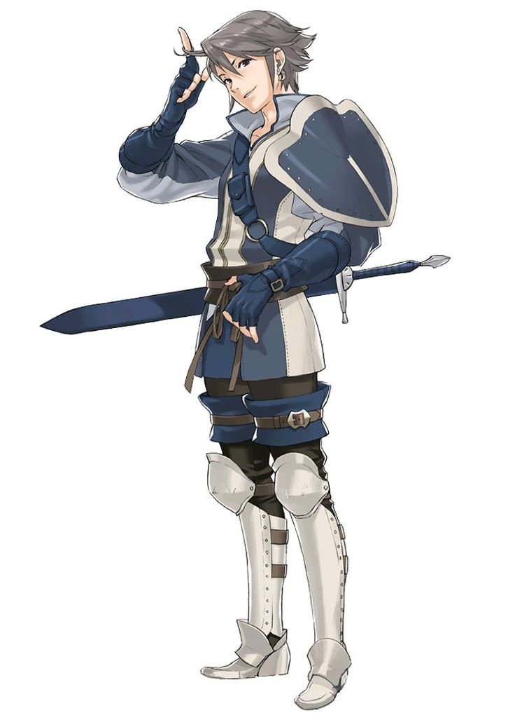 Cool greaves and, of all things, garters. Fire Emblem: Awakening - Inigo