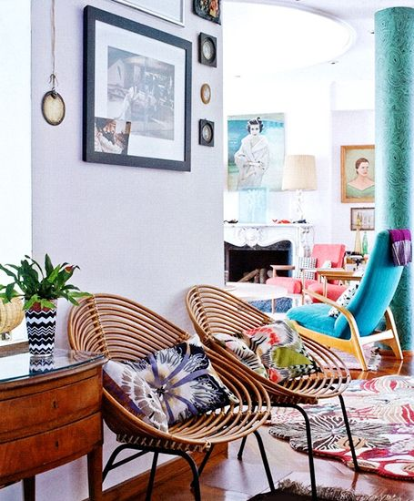 I am in love with those Acapulco chairs. Anything with a Southwest/Mexican modern flair is great in my book.