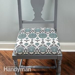 How to Reupholster A Chair | The Family Handyman