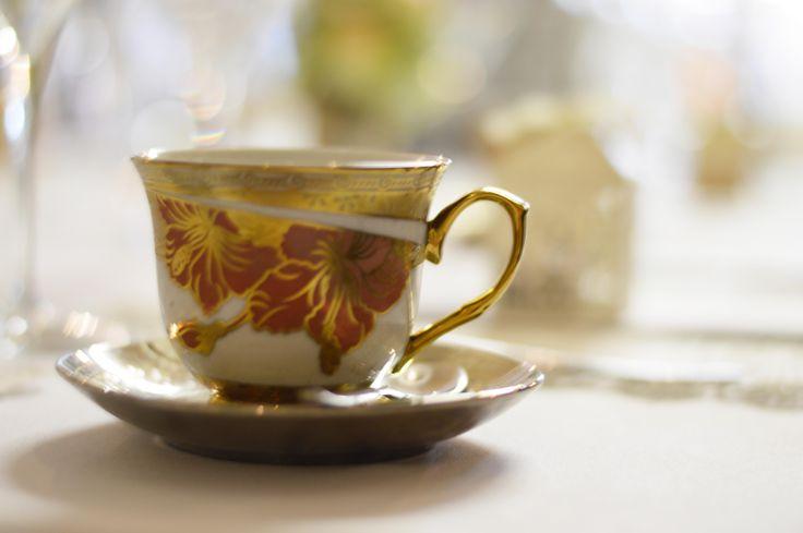 Tea cup details