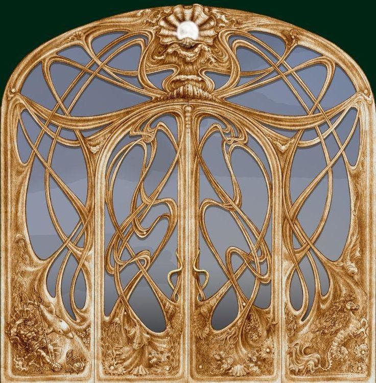 """Промышленный дизайн - Проект """"Эскиз входной двери в стиле модерн"""""""
