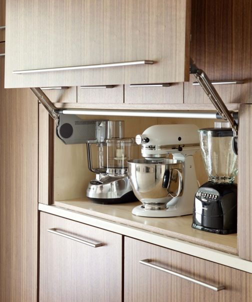Wonderful Kitchen Appliance Storage Cabinets Throughout Decorating