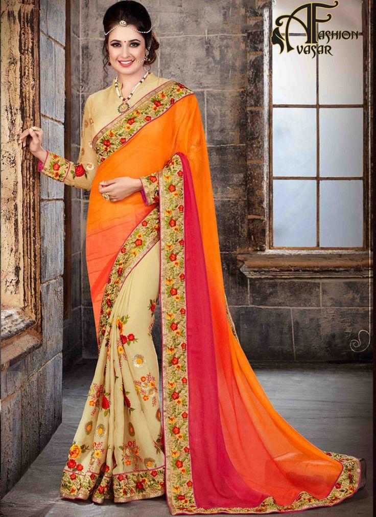 Chiffon Sarees Online Shopping | Buy Chiffon Sarees | Pure Chiffon Sarees