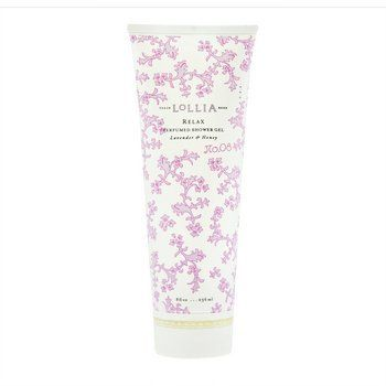 Lollia Relax Lavender & Honey Perfumed Shower Gel by Lollia. $23.99. Infusions of rich exotic blend of Lavender, Bee Blossom Honey with White Orchids and warm, woody undertones of Indian Amber. Luxe Lather.. 8 fl oz / 236 ml. Soft, soapy suds. Fresh Botanical extracts condition & cleanse. Honey-rich emollients of Bee Balm with Oils of Mango & Avocado deliver skin essential nutrients to smooth & moisturize. Delicate infusions of Neroli, wild Honeysuckle, Pomegranate Seed & Mandar...