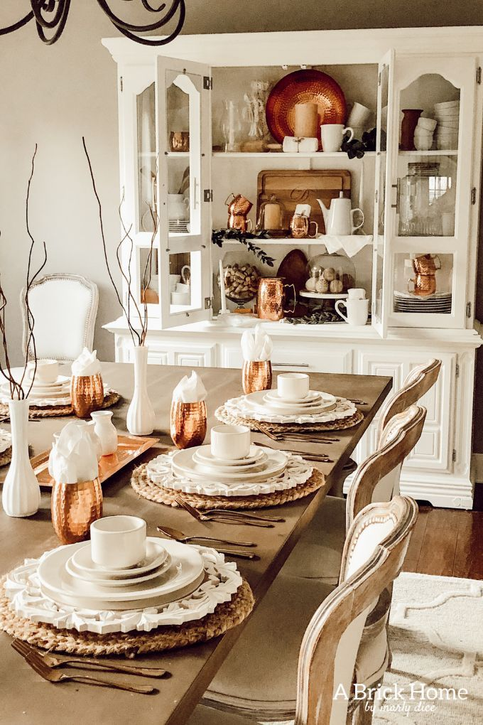 Copper Decor Accents In My Dining Room Copper Decor Accents Fall Dining Room Copper Decor