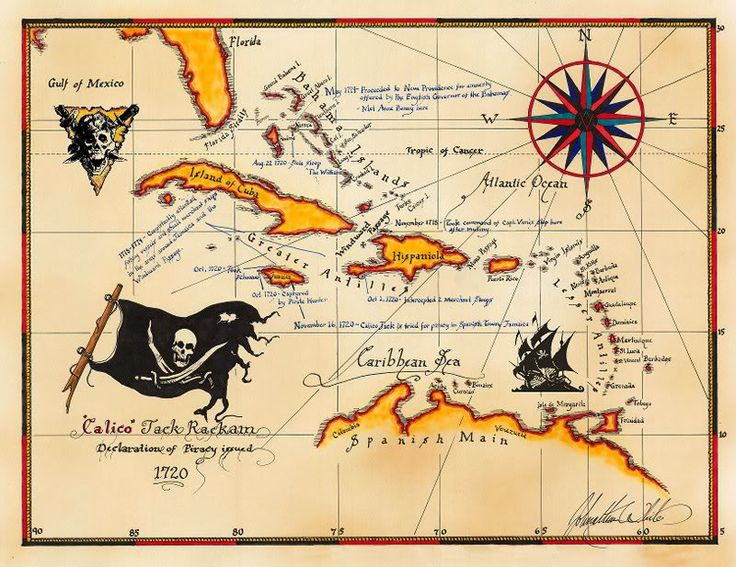 jack sparrows pirate map