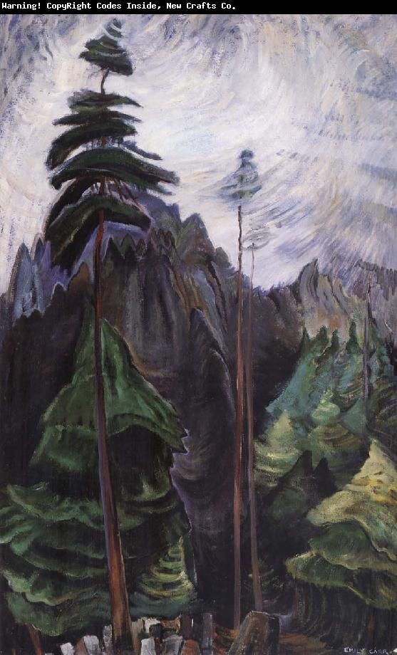 Emily Carr (1871-1945) was one of the first Canadian painters to adopt a post-impressionist painting style. Description from studioartforchildren.blogspot.com. I searched for this on bing.com/images