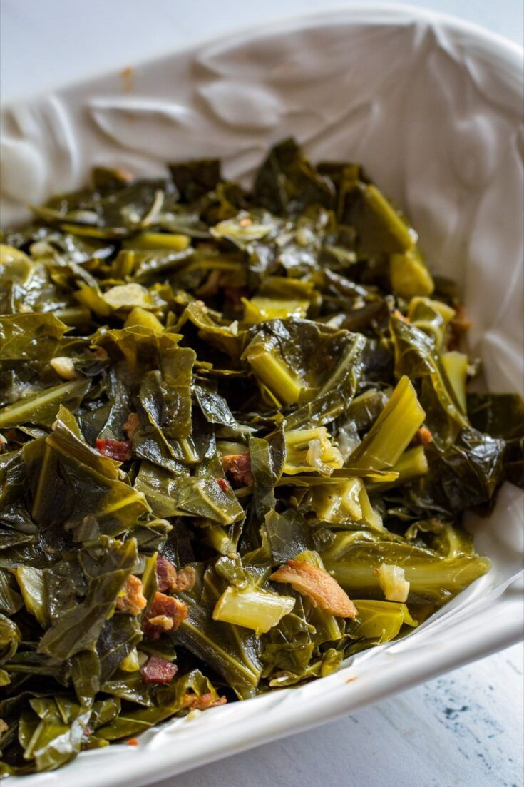 Braised Collard Greens Recipe Greens Recipe Vegetable Side Dishes Collard Greens Recipe