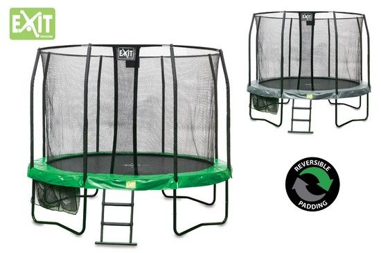Trampoline Jump Arena Reversible Vert et Gris 1 427 au meilleur prix ! - LeKingStore