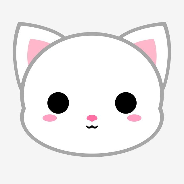 Cute White Cat Head Cat Cat Icons Cute Icons Png Transparent Clipart Image And Psd File For Free Download Cute Cartoon Drawings Cute Kawaii Drawings Cute Easy Drawings