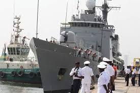 Trends and Politics  : Nigerian Navy offshore patrol vessel NNS Unity dep...
