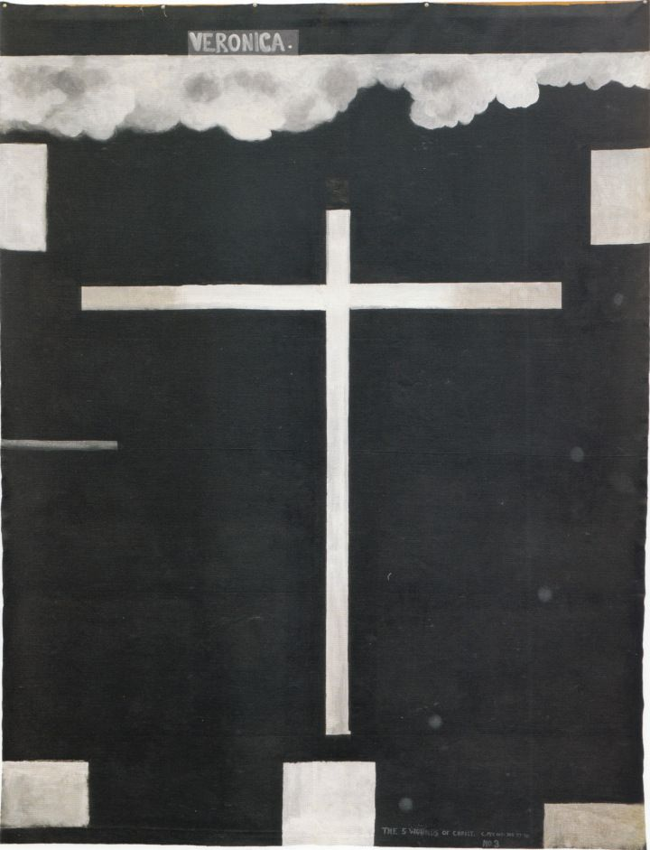 Colin McCahon _ The 5 Wounds of Christ no. 3: Veronica, 1977-78.