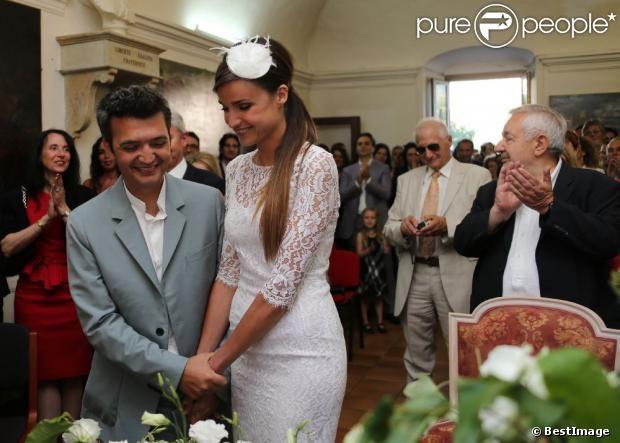 Mariage civil de Thomas Langmann et Céline Bosquet à la mairie de Sartène, en Corse du sud, le 21 juin 2013
