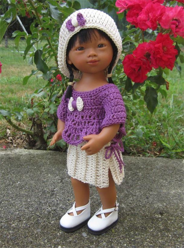 99- FICHE PATRON CROCHET Tenue Alessandra pour poupée Marietta D'Nenes : Jeux…
