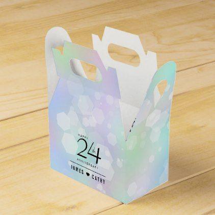 Elegant 24th Opal Wedding Anniversary Celebration Favor Box - confetti wedding marriage party gift idea diy