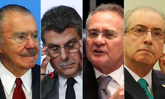 PGR pede prisão de Sarney, Juca, Renan e Cunha; advogado nega conhecer pedido