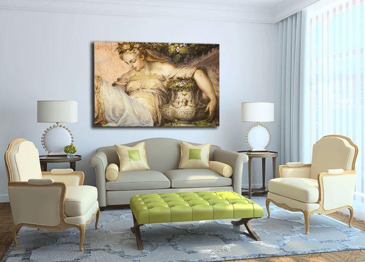 foto obraz na ścianie w salonie