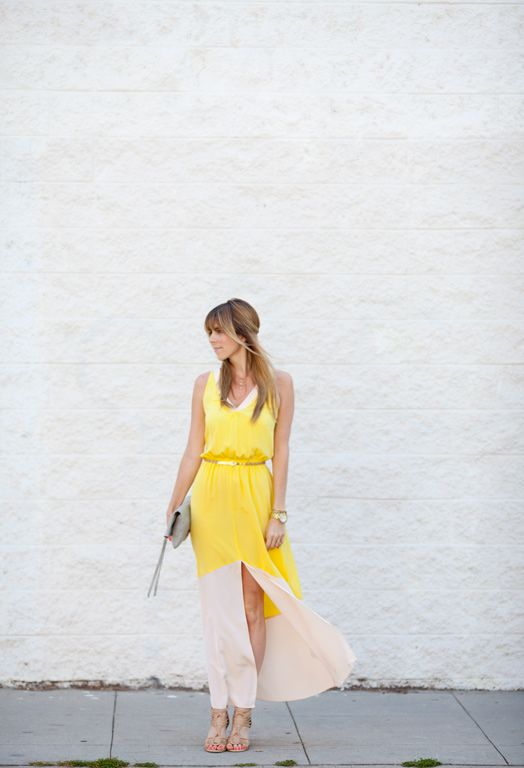 great dressSummer Yellow, Yellow Dresses, Gold Dresses, Clothing Clothing, Spring Fashion, Maxis Dresses, Fashion Inspiration, Colors Block, Yellow Maxis