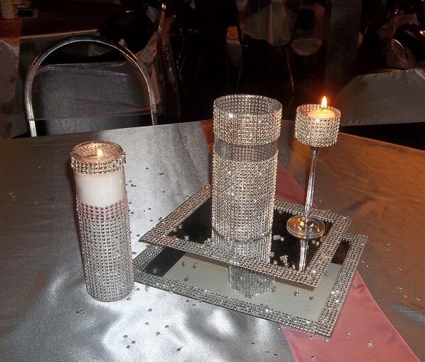 Bling Bling Table Centerpiece Masquerade Parties