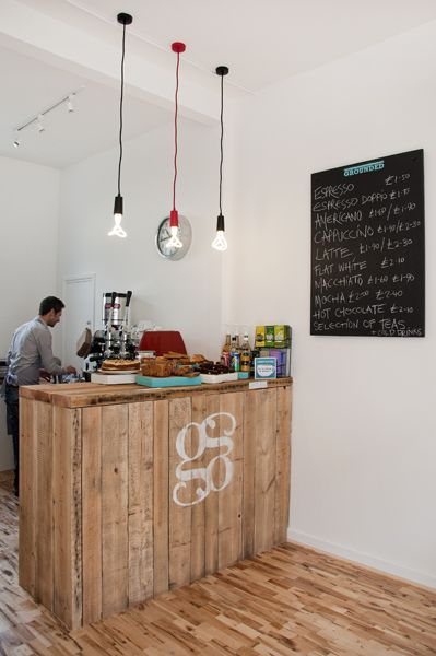 how to build a coffee shop counter