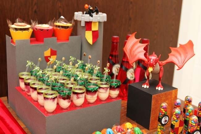 Knights and Dragons Birthday Party - Dessert Table Detail -  Spaceships and Laser Beams