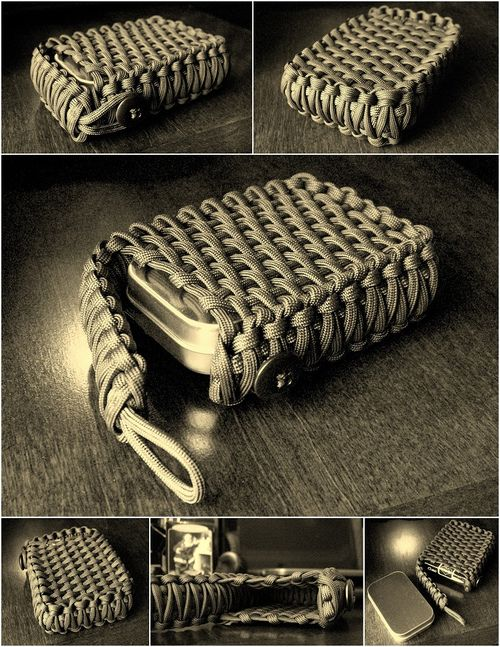 paracord wrap for tin can survival kit - FYI - If you are supply for large group - buy your supplies on amazon.  I bought 100 clips for about 12$  vs. 15$ for 6 at craft store.