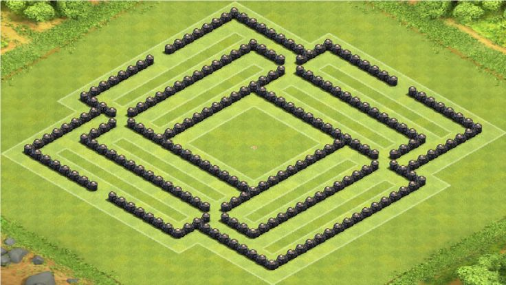 Clash of Clans - TH8 War Base BEST Town Hall 8 defense with Air Sweeper