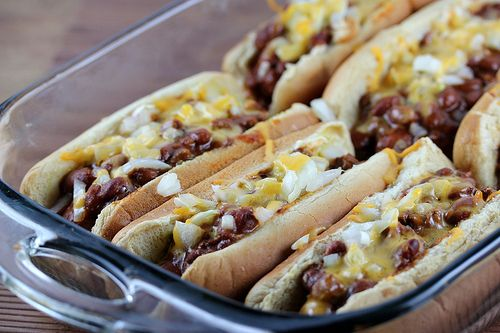 Baked Chili Dog recipe (GREAT for leftover chili!)