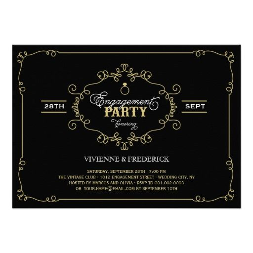 51 best images about Engagement Party Invitations – Vintage Engagement Party Invitations