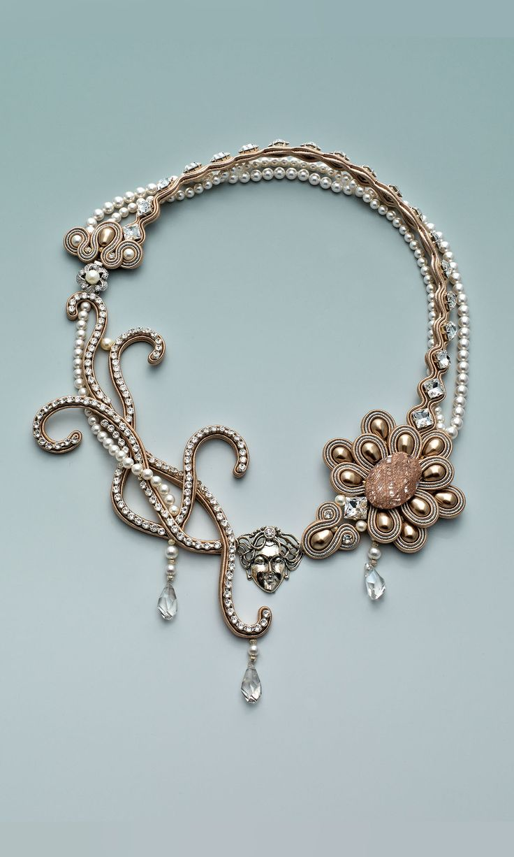 Jewelry Design - Triple-Strand Necklace with Swarovski Crystal, Soutache Cord and Cupchain - Fire Mountain Gems and Beads