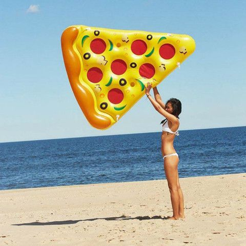 Giant Yellow Inflatable Pizza Float