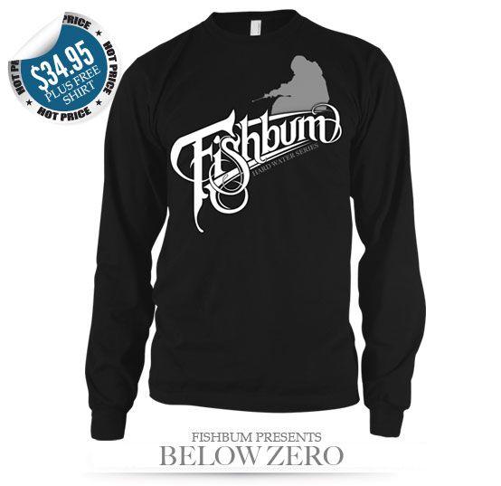 Fishing clothing fishbum below zero long sleeve ice for Ice fishing apparel