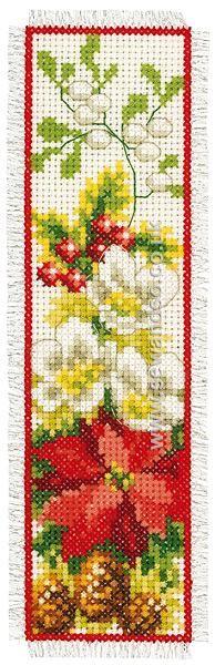 Buy Winter Flowers Bookmark Cross Stitch Kit Online at www.sewandso.co.uk