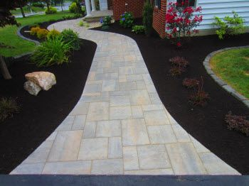 TechoBloc BLU 60 Slate Finish in a Champlain Grey Color