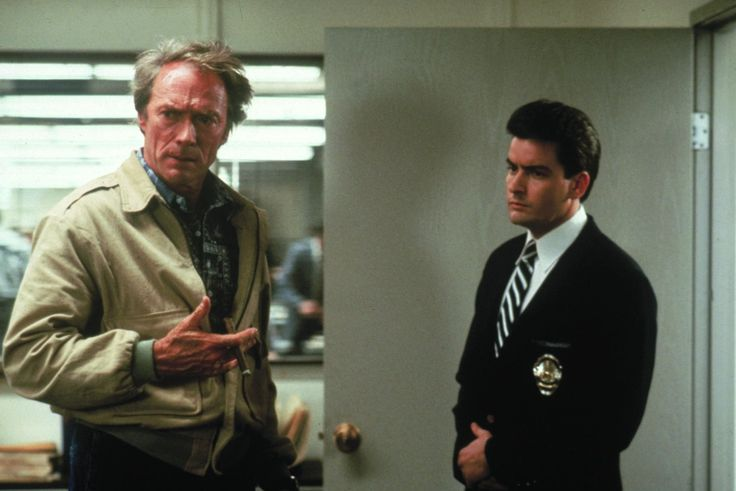 Clint Eastwood and Charlie Sheen in The Rookie (1990)