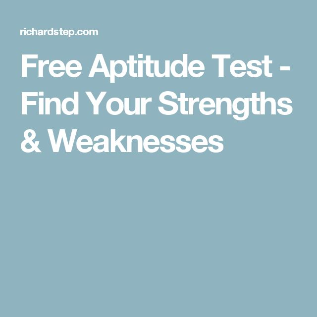 Free Aptitude Test - Find Your Strengths & Weaknesses