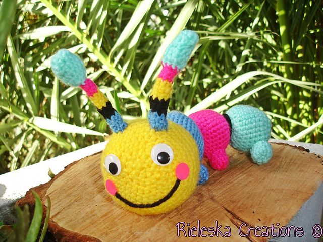 Crochet PDF Pattern- Crochet Colorful Hungry Caterpillar