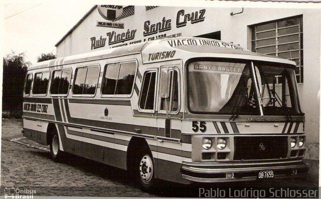 Ônibus da empresa VUSC - Viação União Santa Cruz, carro 55, carroceria Marcopolo II, chassi Mercedes-Benz LPO-1113. Foto na cidade de Santa Cruz do Sul-RS por Pablo Lodrigo Schlosser, publicada em 21/12/2012 18:36:05.