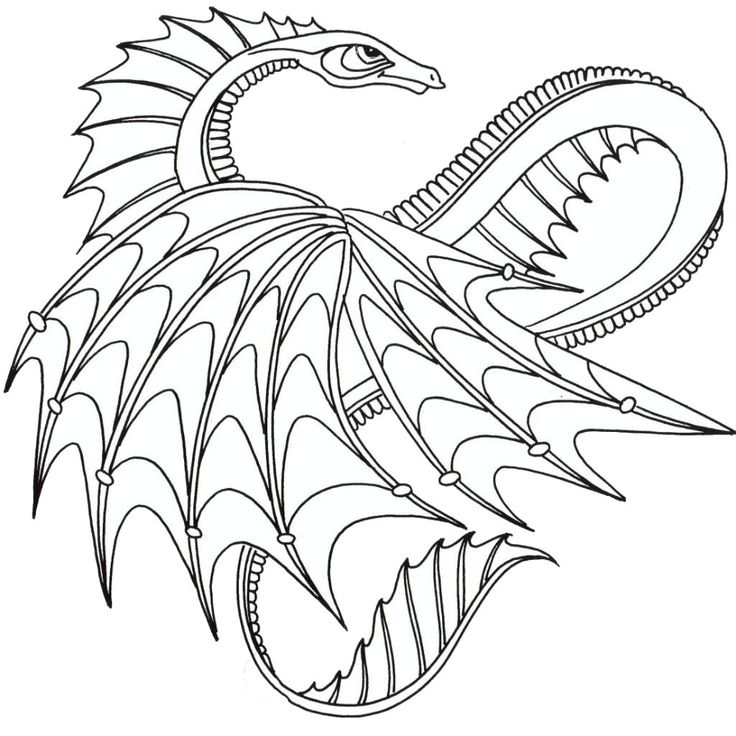 39 best Dragons images on Pinterest | Coloring sheets, Printable ...