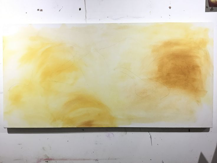 Stage 1. A light wash across the canvas