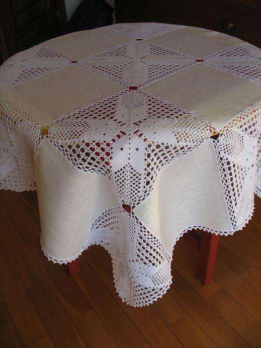 Mantel de crochet para una mesa de fiesta. Clase Maestro