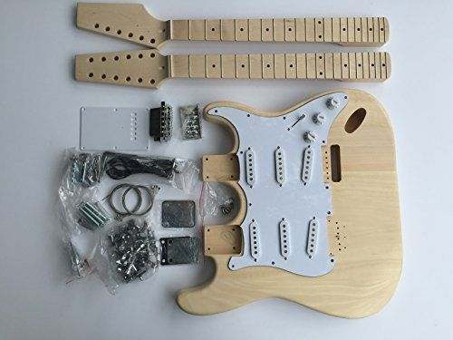 DIY Electric Guitar Kit - Double Neck 6 String 12 String Guitar