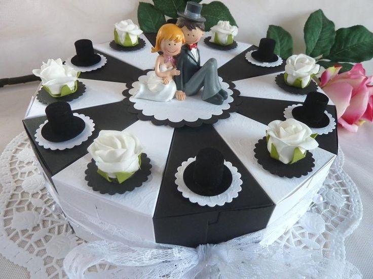 Hochzeitstorte/Schachteltorte/Geldgeschenktorte von IdeenOase auf DaWanda.com