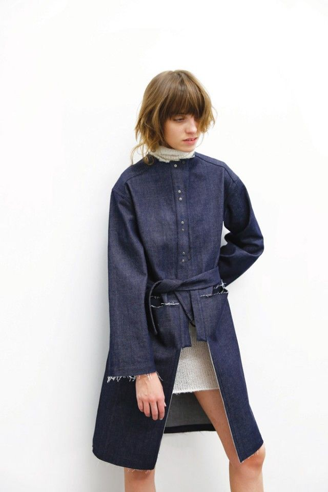 Kahle FW15 Debut collection   Denim trench coat